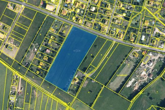 prodej pozemku 14121 m luzna plan